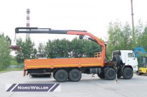 Бортовой Камаз 63501 с КМУ Palfinger PК48002А и колесосьемом NW3705