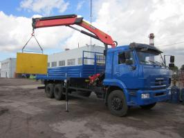 Бортовой КАМАЗ 65117 с КМУ Palfinger PK23500А