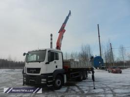 Бортовой MAN TGS 33.350 c КМУ Pafinger Pk23500A