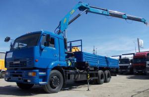 Бортовой КАМАЗ 65117 с КМУ Инман ИМ150