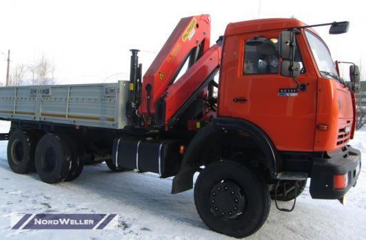 Бортовой КАМАЗ 65111 c КМУ Pafinger Pk23500A