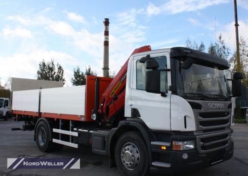 Бортовой Scania P230 с КМУ Palfinger PK12000B