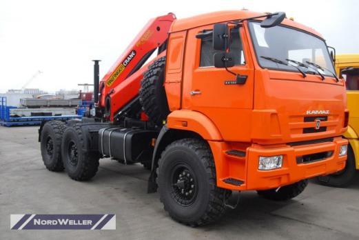 Тягач КАМАЗ 43118 с КМУ Palfinger PK 23500A