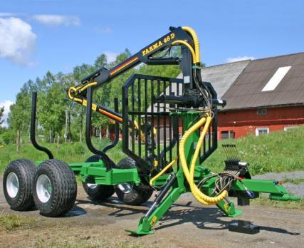 ПолуПрицеп тракторный с КМУ Farma CT 4,6-7 Super