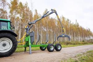 ПолуПрицеп тракторный с КМУ Farma CT 6,3-9