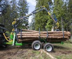 ПолуПрицеп тракторный с КМУ Farma CT 6,3-9 4 WD
